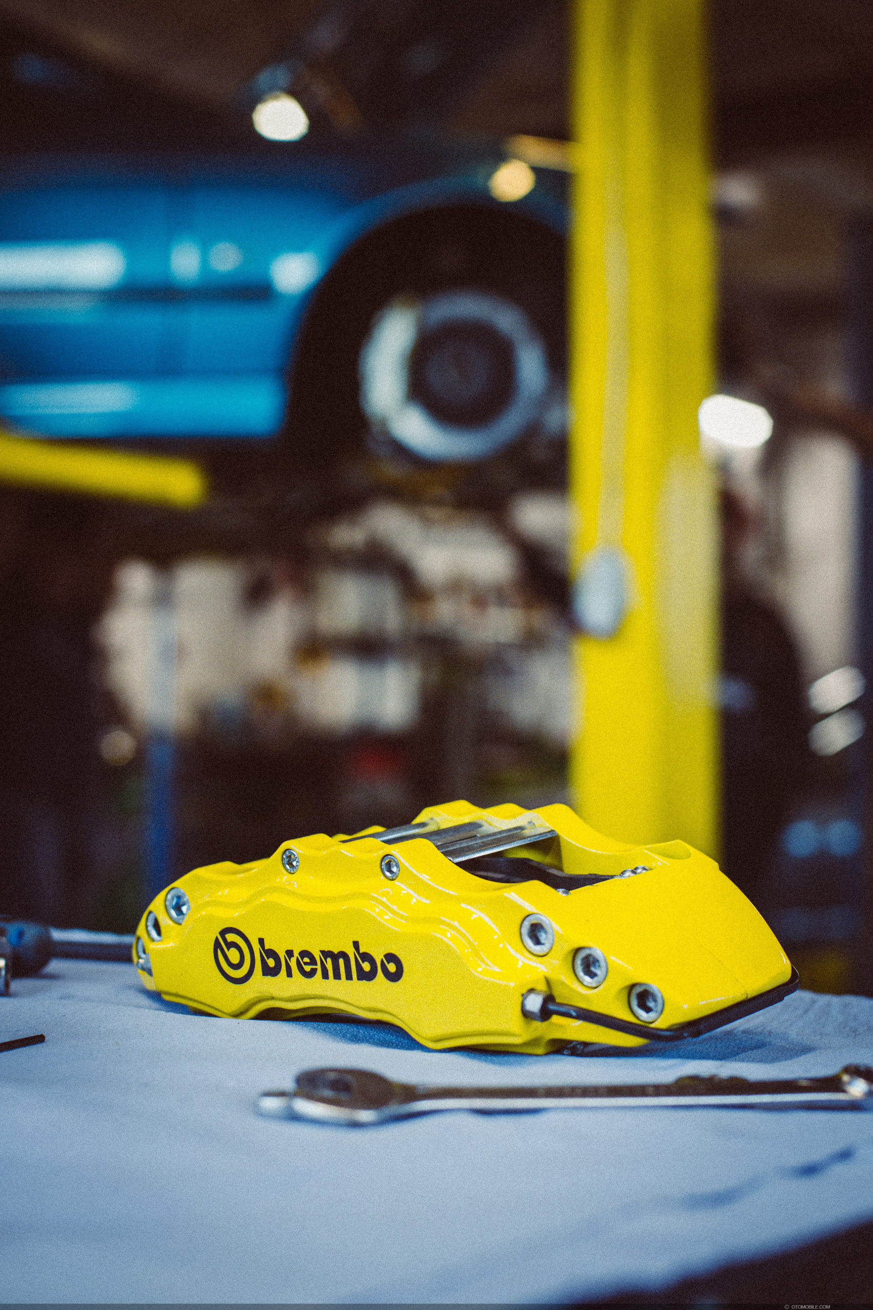 Brembo brakes in yellow for BMW M5 E39