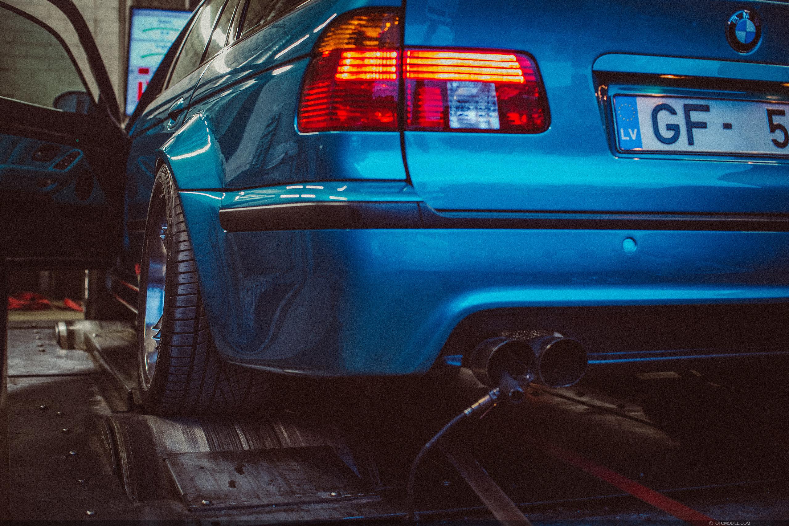 "BMW M5 E39 Touring Wide-Body ESS Supercharged ""BMW Individual Program"" 1 of 7 Atlantis Metallic with 1 of 1 Titanic Blau interior. Dyno tune at Dyno Systems, Riga, Latvia on a Superflow Dyno."